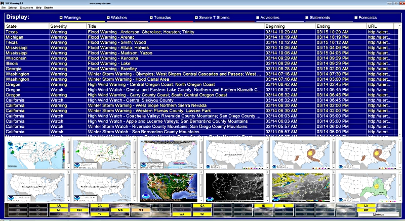 WXSpots - Severe Weather Now! Featuring WXWarn Free Weather Software!